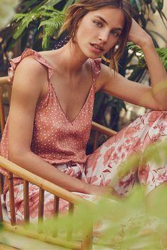 Short polka dot and ruffle and long pink floral pyjamas Pretty Lingerie, Beautiful Lingerie, Lingerie Sleepwear, Nightwear, Pijamas Women, Best Prom Dresses, Cute Pajamas, Designer Lingerie, Pyjamas