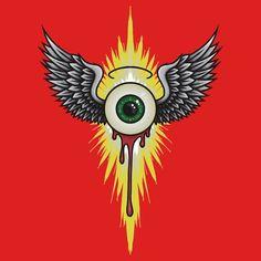 Eyeball Drawing, Ed Roth Art, Rockabilly Art, Pinstripe Art, Winged Eye, Pinstriping Designs, Garage Art, Arte Horror, Airbrush Art