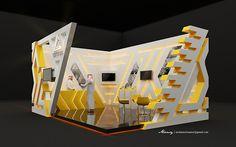 Arab Sea Information Systems - Booth DesignRiyadh - Media KAL Advertising Agency Exhibition Stall, Exhibition Booth Design, Exhibition Display, Coffee Shop Design, Futuristic Architecture, Retail Design, Creative Design, Advertising Agency, Exhibitions