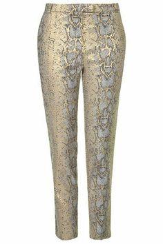 Metallic Snake Trousers