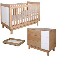 Grotime Scandi Cot, Scandi Chest and Crest Change Top Package