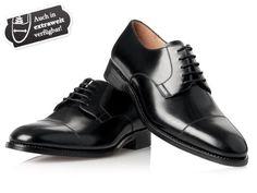 Derby Herrenschuhe in Schwarz - No. 540 Herrenschuhe extra weit: Amazon.de: Schuhe & Handtaschen