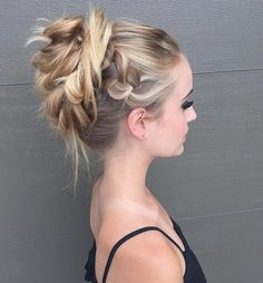 Pretty Hairstyle for Prom 2016 - Updos with Loose Braid