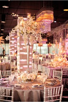 #silver #candelabra  #centerpiece An Orlando Wedding at The MEZZ | Kristen Weaver Photography