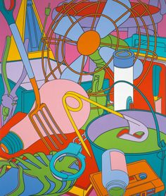Michael Craig Martin- perfect artist for subjects such as outline and everyday objects. Simplistic yet intricate Outline Art, Outline Drawings, Michael Craig, Still Life Artists, Memento, Ligne Claire, A Level Art, Gcse Art, Everyday Objects