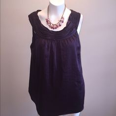 Ann Taylor Loft Top Plum colored top! Flowy and 100% polyester Ann Taylor Tops