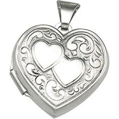 Sterling Silver Heart Picture Locket