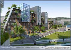 CITTA DELLA SCIENZA   Self-sufficient urban ecosystem,   Roma 2015,   Italy     TYPE : International Master Planning & Architectural Competition   INTERNATIONAL DESIGN ARCHITECT : Vincent Callebaut Architectures, Paris