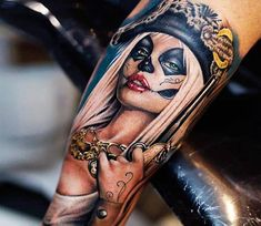 Pirate Woman tattoo by Khan Tattoo | Post 15315