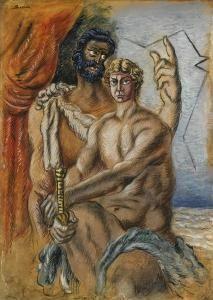 Alberto Savinio (Andrea Francesco Alberto de Chirico) - 1891-1952 - Ulysses and Telemachus