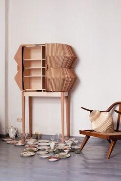 Elisa Strozyk wooden accordion cabinet
