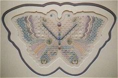 Pastel version of Butterfly 5.  Charted needlepoint canvaswork pattern or kit available.