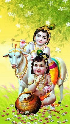 40 Most Stunning Radha Krishna Images - Vedic Sources Baby Krishna, Little Krishna, Cute Krishna, Baby Ganesha, Yashoda Krishna, Krishna Hindu, Radha Krishna Photo, Radhe Krishna, Radha Krishna Paintings