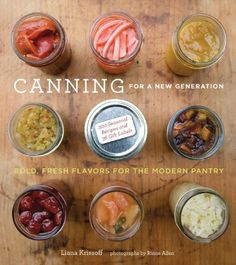 Canning.  There are some wonderful recipes in this book!  And low sugar alternatives!  Highly recommended!