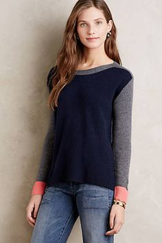 Blocked Cashmere Pullover