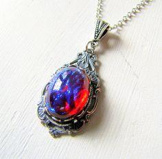 Just STunNiNg Opal Pendant Dragons Breath by TwigsAndLace