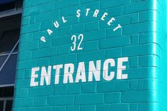 Wall Signage, 32 Paul Street Entrance