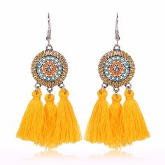 This dream catcher with tassels bohemian earrings is the perfect fit for casual or dressy outfits depending on your occasion. It will reflect your inner beauty and inner truth.