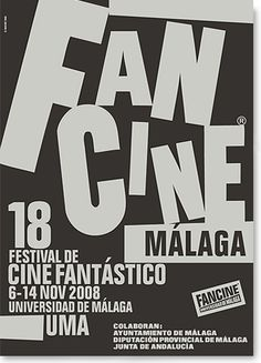 Diseño gráfico de Fancine Málaga 2008