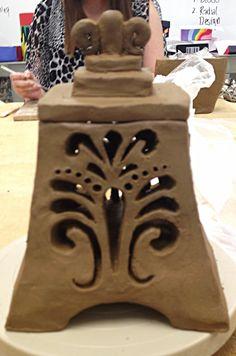 Clay lantern