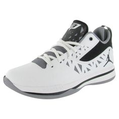 Jordan Brand is known for creating the perfect athletic shoe, the Jordan CP3.V shoe is great for on the court or off. This shoe features a lace up closure and mid ankle coverage for support, upper is leather, padded lining and extra padded heel for maximum comfort. Jordan logo on side of each shoe and a smaller one on the tongue, and a rubber outsole. Style: 487428104'