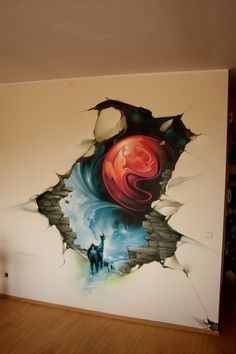 """This awesome graffitti art called """"PORTAL"""" by ~shepa on deviantART"""