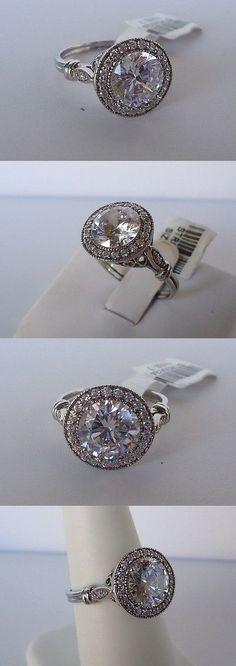 Gemstone 177020: St00524 925 Sterling Silver Ladies Wedding Ring Sz 5-9 W 3 Cts Diamonds -> BUY IT NOW ONLY: $51.5 on eBay!