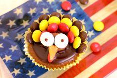 Receta: Cupcakes de pavos felices