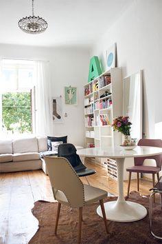 Sneak Peek: Verena Michelitsch via Design*Sponge My Living Room, Living Area, Living Spaces, Hipster Home, Sweet Home, Room Of One's Own, Interior Color Schemes, Interiores Design, Interior Inspiration