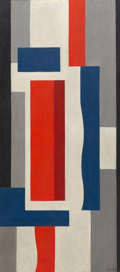 "guggenheim-art: "" Mural Painting by Fernand Léger via Guggenheim Museum Size: 180.2x80.2 cm Medium: Oil on canvas Solomon R. Guggenheim Museum, New York © 2016 Artists Rights Society (ARS), New York / ADAGP,..."
