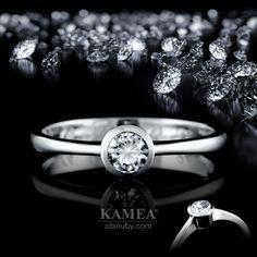 Zásnubný prsteň Diamond Collection 2015, z bieleho 14 karátového lesklého zlata, v ktorom je vsadený 1 briliant o priemere 4mm. Možnosť vyhotovenia v žltom aj v červenom prevedení a v každej veľkosti. Wedding Rings, Engagement Rings, Jewelry, Enagement Rings, Jewlery, Jewerly, Schmuck, Jewels, Jewelery