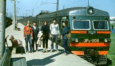 Soviet students on a trip.