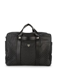 MCM Moment Voyage Medium Nappa Travel Briefcase. #mcm #bags #leather #hand bags #