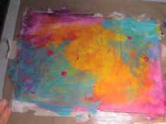Watch the Process - Creating a Mixed-Media background - using masking tape as the first layer