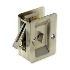 Locking pocket door hardware