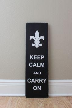 Keep Calm and Carry On - Fleur De Lis