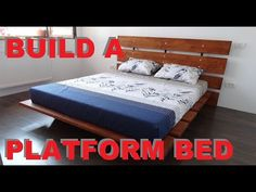 Step by step easy to build, queen size platform bed. This is a DIY build of a simple bed that you can build in a weekend. The dimensions o the bed are 180 cm. Build A Platform Bed, Queen Size Platform Bed, Simple Bed, Queen Size Bedding, Mattress, Toddler Bed, Building, Furniture, Youtube