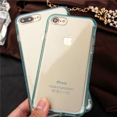 New Glitter Rhinestone silicone phone cases For iPhone 7 7Plus Luxury clear Soft TPU diamond back protect cover for iPhone7 Plus