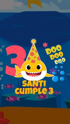 Mia's turns 7 Video Baby Shark, Baby Shark Song, Digital Invitations, Birthday Invitations, Shark Party, Fiesta Party, Baby Birthday, Party Themes, Baby Shower
