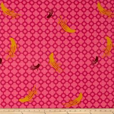 Heather Ross Mendocino Large Octopus Pink from @fabricdotcom  Designed by Heather Ross for Windham Fabrics, this whimsical cotton print collection will transport you to a magical underwater world filled with mermaids, octopii, fish, and seahorses. Perfect for quilting, apparel, and home decor accents. Colors include hot pink, fuchsia, marroon, and mustard yellow.