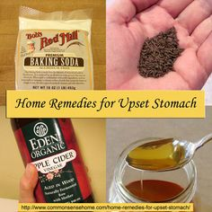 7 Home Remedies for Upset Stomach, plus recommendations on how to avoid it in the first place. @ Common Sense Homesteading  #homeremedies #u...