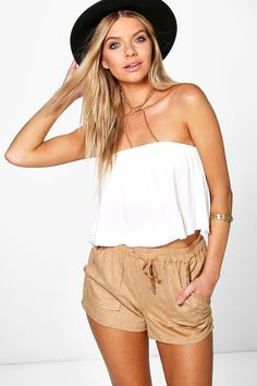 Amanda Double Layer Frill Tube Top at boohoo.com
