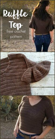 Ruffle Top Crochet Pattern