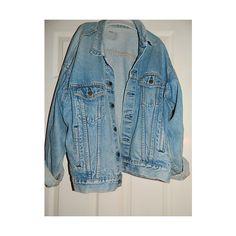 genuine levis vintage light blue denim jacket ❤ liked on Polyvore featuring outerwear, jackets, tops, denim, jean jacket, blue jackets, vintage jackets, denim jacket and vintage denim jacket