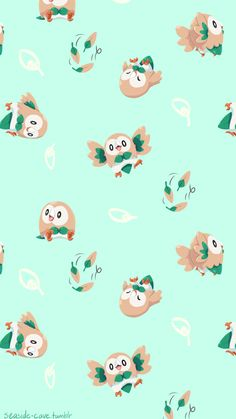 Rowlet wallpapers for your phone! Litten Popplio All