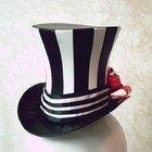 Black and White Striped Bijou Mini Top Hat