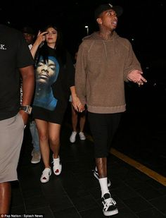 Kylie Jenner cuddles up to Tyga as they take his son King Cairo to Las Vegas show | Daily Mail Online... - Kylie Jenner Style
