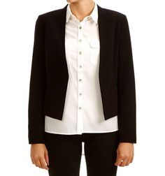 COURSELLE BLAZER BLACK via Jascha online store. Click on the image to see more!
