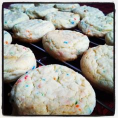 Cake mix cookies! I can make these with the half box of cake mix I have sitting around from another recipe