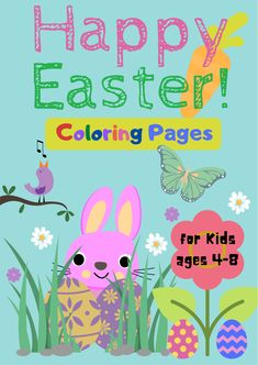 Check out these cute coloring pages for kids, toddlers and Easter enthusiasts! Fun for both boys and girls. Some easy, some more challenging. Happy Easter! #eastercoloringpages #coloringpages #fortoddlers #preschool #freeprintable